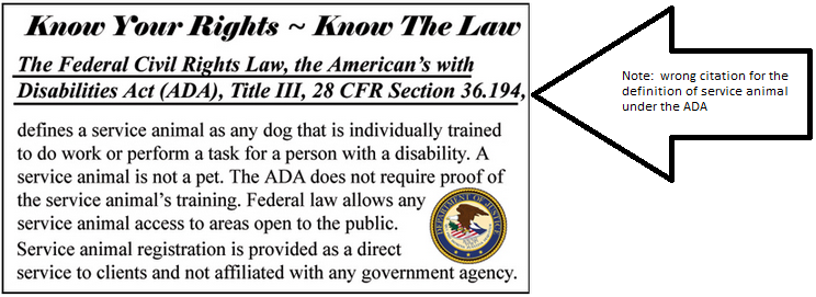 screen shot of the back of a USARplus ID card, including the logo of the US Department of Justice